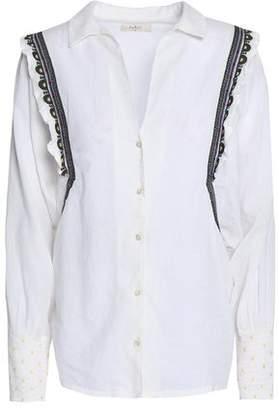 BA&SH Embroidered Cotton-poplin Shirt