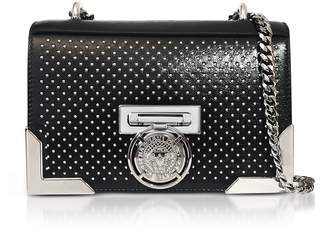 Balmain Black Studded Leather BBox20 Clutch