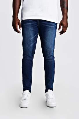 BoohoomanBoohooMAN Mens Blue Big & Tall Skinny Fit Jeans, Blue