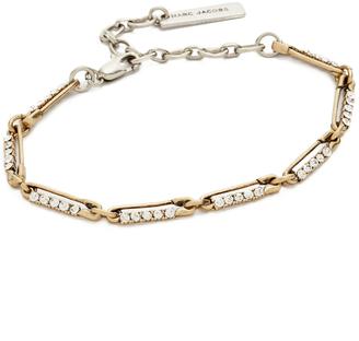 Marc Jacobs Strass Safety Pin Link Bracelet $95 thestylecure.com