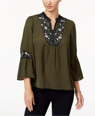 Style & Co Embroidered Peasant Top, Created for Macy's $59.50 thestylecure.com