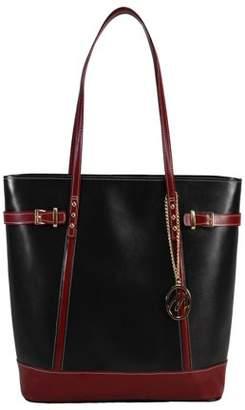 McKlein McKleinUSA SERAFINA, Ladies' Tote with Tablet Pocket, Top Grain Cowhide Leather, Black (97565)