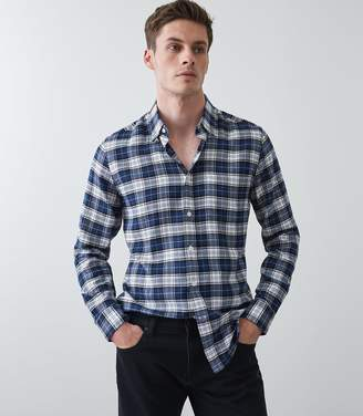 Reiss Cooper Brushed Checked Overshirt