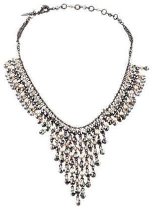 Erickson Beamon Faux Pearl & Crystal Collar Necklace