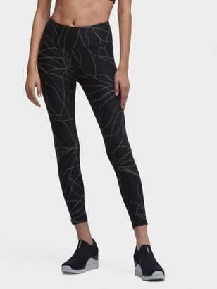 DKNY Cropped Linear-Printed High-Waist Legging