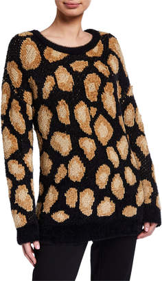 MICHAEL Michael Kors Cheetah Jacquard Sweater