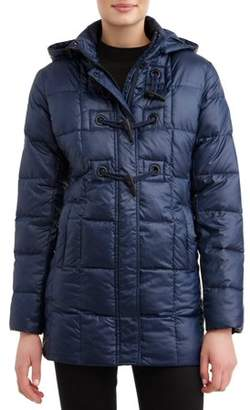 Unbranded Women's Down Blend Hooded Toggle Coat