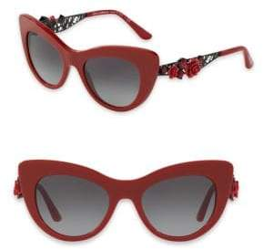 Dolce & Gabbana 50MM Embellished Cat Eye Sunglasses