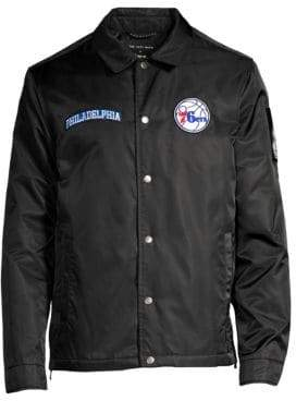 The Very Warm x NBALAB Coach's Philadelphia 76ers Embroidered Bomber Jacket