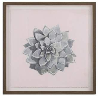 """Marmont Hill Inc. Succulent Flower Wall Art - 24\"""" x 24\"""""""