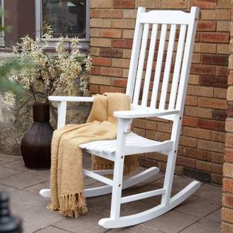 northbeam Traditional Rocking Chair, White Painted