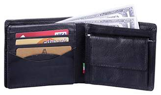 Leather Architect -Men's Real Italian Leather Wallet with Coin Pocket and RFID blocking-