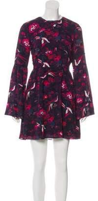 Tanya Taylor Printed Silk Mini Dress