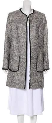 Helene Berman Metallic Tweed Knee-Length Coat w/ Tags