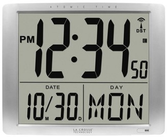 La Crosse Technology 515-1316 Atomic Extra-Large Digital Wall Clock with 7 Inch Time