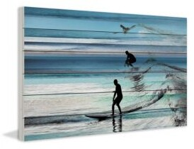 Parvez Taj Wave Jumping White Wood Print