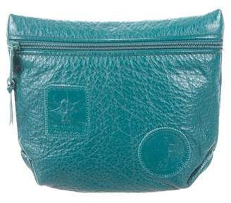 Carlos Falchi Leather Zip Pouch
