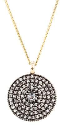Mizuki 14K Diamond Disc Pendant Necklace