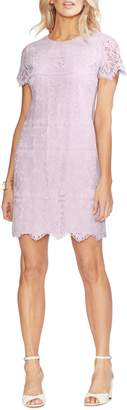 Vince Camuto Bordered Lace Shift Dress