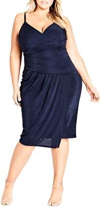 City Chic Hide and Seek Faux Wrap Dress
