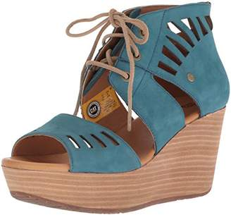 Caterpillar Women's Alma Ghillie Tie Platform Wedge Sandal