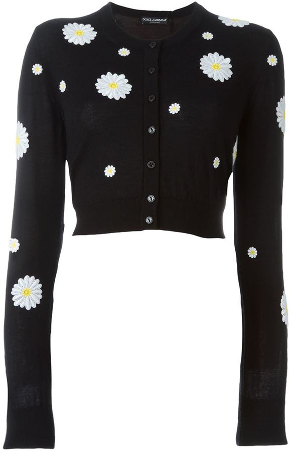 Dolce & Gabbana daisy appliqué cardigan