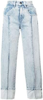 Alexander Wang straight-leg bleached jeans