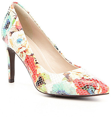 Cole Haan  Cole Haan Amelia Grand Floral-Print Leather Pumps