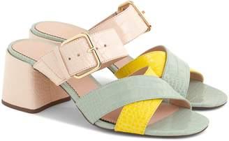 J.Crew Penny Colorblock Faux Croc Slide Sandal