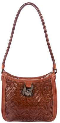 Kieselstein-Cord Woven Leather Shoulder Bag