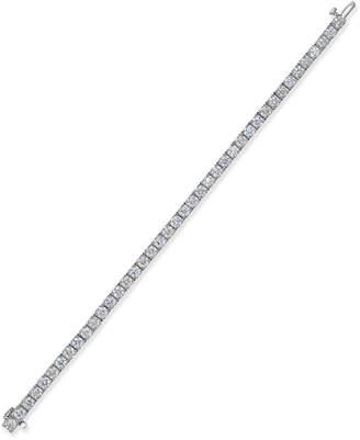 Macy's Certified Diamond Tennis Bracelet (10 ct. t.w.) in 14k White Gold