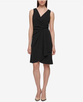 Dkny V-Neck Draped Jersey Dress $139 thestylecure.com