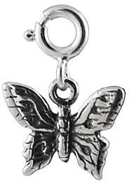QVC Sterling Detailed Butterfly Charm