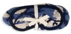 Portolano Two-Piece Camouflage Slippers & Eye Mask Set