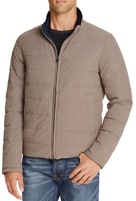 Herno Reversible Flannel Nylon Quilted Down Jacket $730 thestylecure.com