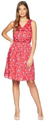 U.S. Polo Assn. Floral V-Neck Dress Women's Dress