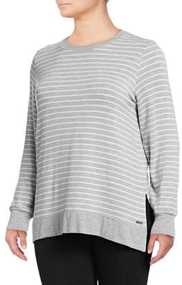Andrew Marc Plus High-Low Think-N-Thin Top