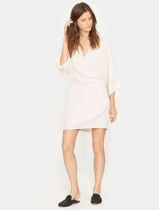 Halston Kimono Sleeve Faux Wrap Dress