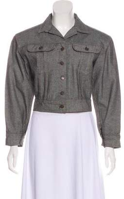 Norma Kamali Vintage Cropped Denim Jacket