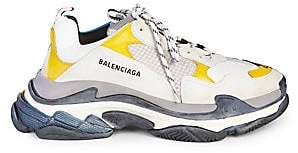 Balenciaga Men's Triple S Trainer Sneakers