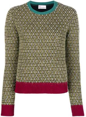 RED Valentino embroidered fitted sweater