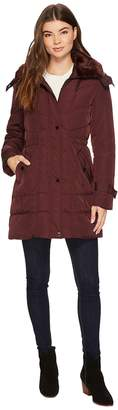 Kenneth Cole New York Oxford Hooded Anorak w/ Removable Faux Fur Collar Women's Coat
