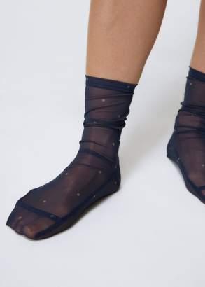 Darner Dots Mesh Socks