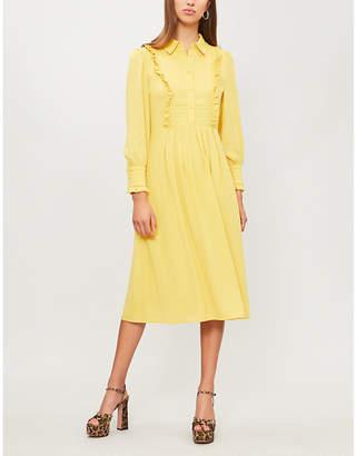 Claudie Pierlot Ruffled trims crepe dress
