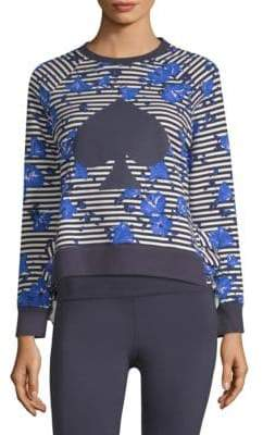 Kate Spade Hibiscus Stripe Cotton Pullover