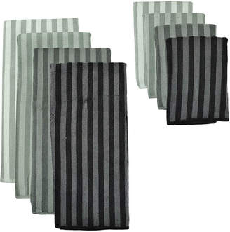 DESIGN IMPORTS Design Imports Gray Stripe 8-pc. Microfiber Dish Towel Set