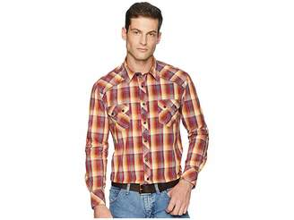 Rock and Roll Cowboy Long Sleeve Snap Plaid B2S6035