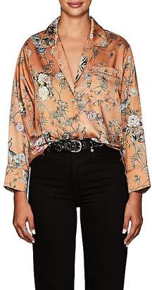 Icons Women's The Draper Floral- & Bird-Pattern Pajama Blouse
