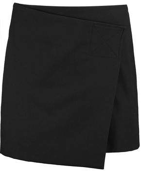 Marc by Marc Jacobs Wrap-Effect Cotton-Blend Twill Mini Skirt