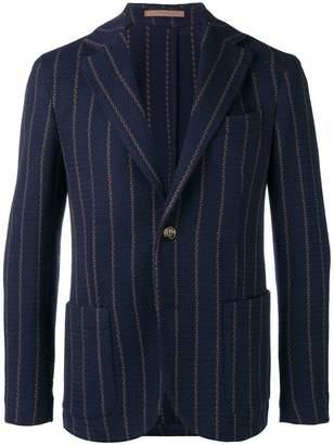 Eleventy striped woven blazer